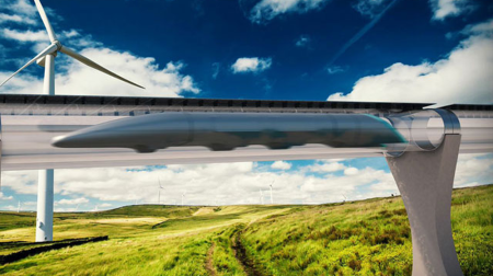 Vision futuriste hyperloop