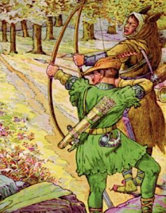 Tira à l'arc Robin des bois