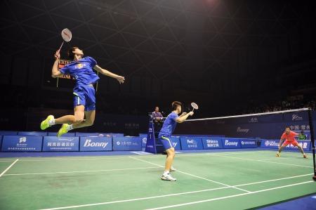 Match de badminton