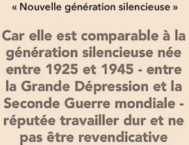 nouvelle génération silencieuse
