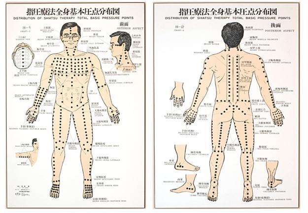Le principaux points de shiatsu