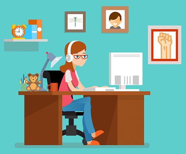 Freelance travaillant à distance