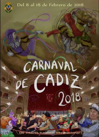 L'affiche du Carnaval de Cadix 2018